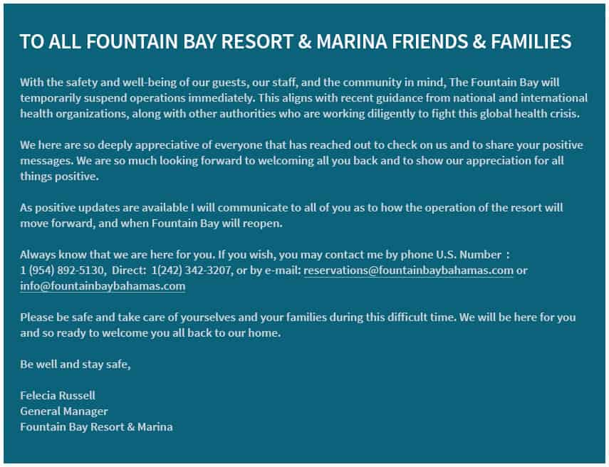 Fountain Bay Resort & Marina Friends & Families